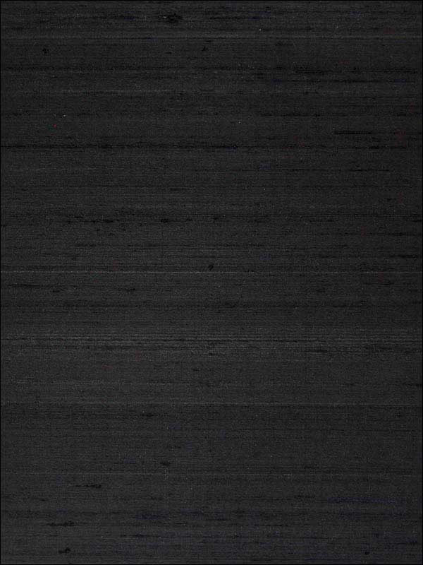 Silk Wallpaper in Ink Black from the Sheer Intuition Collection by Burke Decor