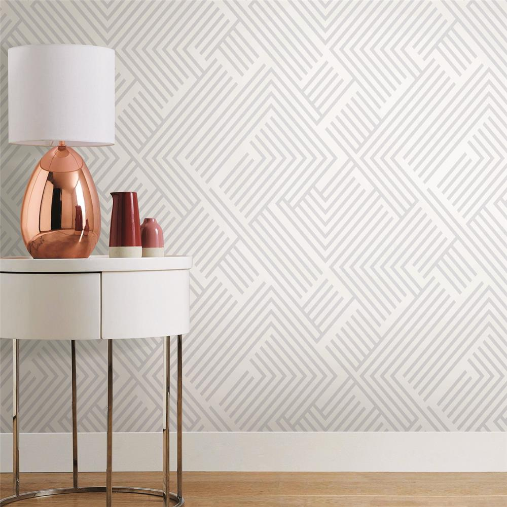 Silver Perplexing Peel & Stick Wallpaper by RoomMates for ...