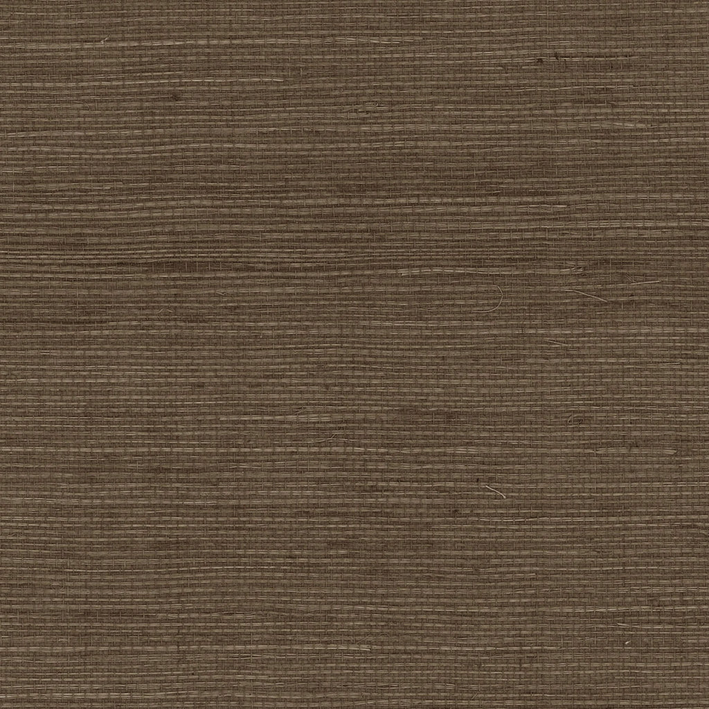Sample Sisal Grasscloth Wallpaper in Ash Brown from the Luxe Retreat Collection by Seabrook Wallcoverings