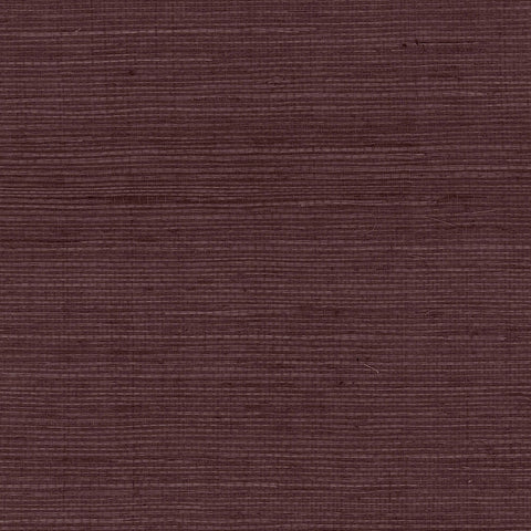 Sisal Grasscloth Wallpaper in Deep Plum from the Luxe Retreat Collection by Seabrook Wallcoverings