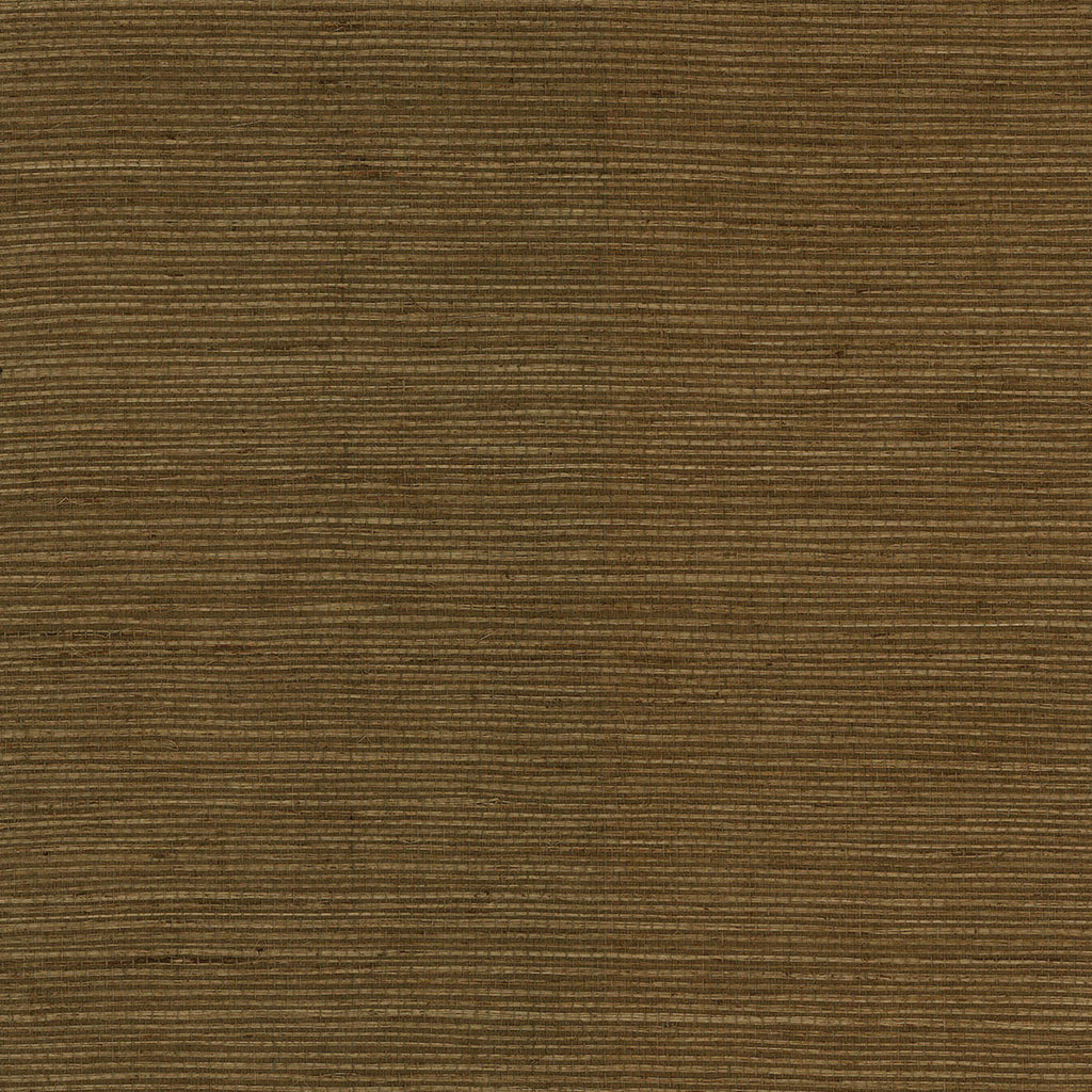 Sisal Grasscloth Wallpaper in Elmwood from the Luxe Retreat Collection by Seabrook Wallcoverings