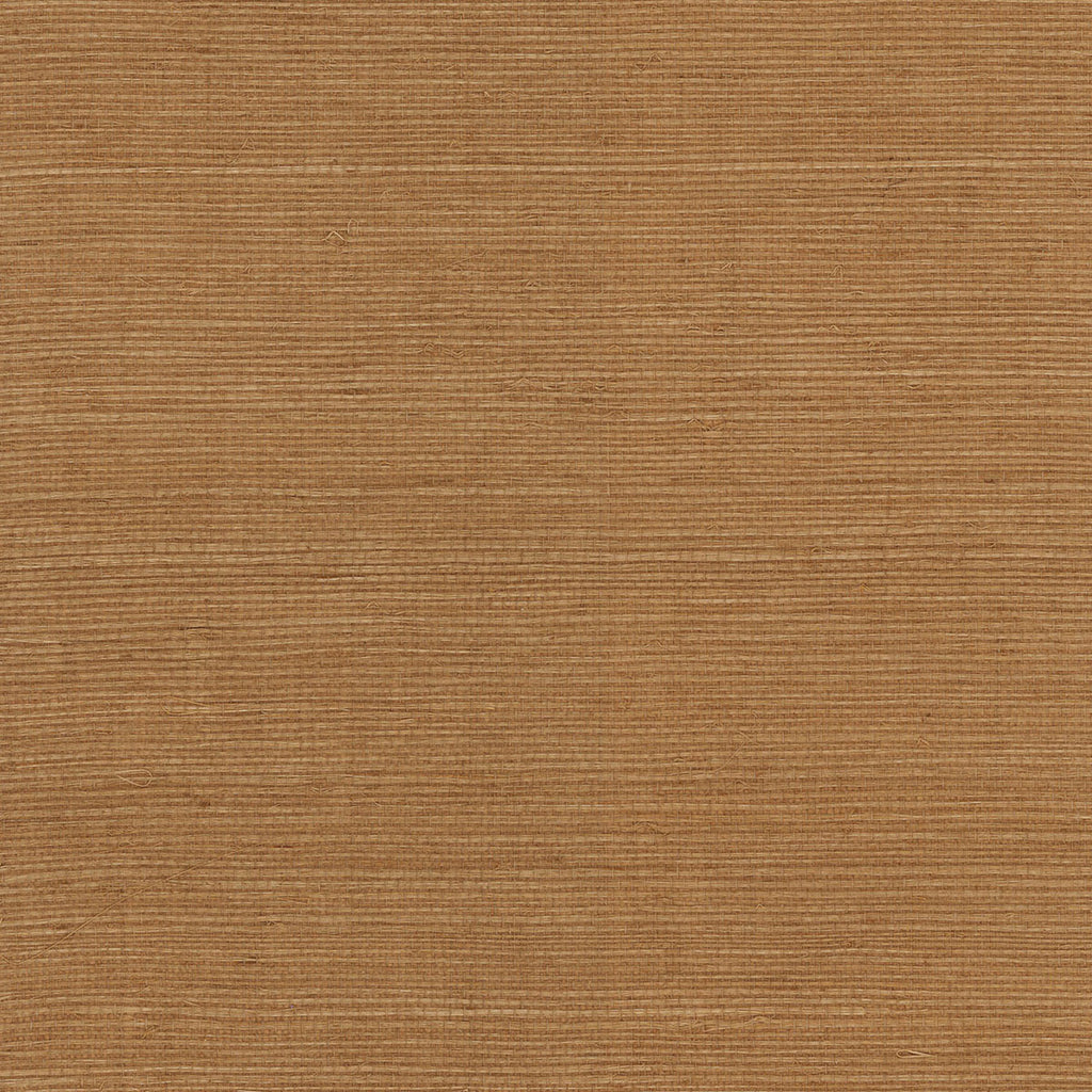 Sisal Grasscloth Wallpaper in Golden Walnut from the Luxe Retreat Collection by Seabrook Wallcoverings