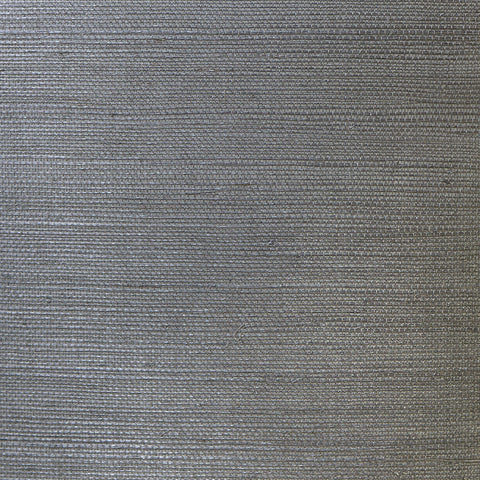 Sisal Grasscloth Wallpaper in Graphite from the Luxe Retreat Collection by Seabrook Wallcoverings