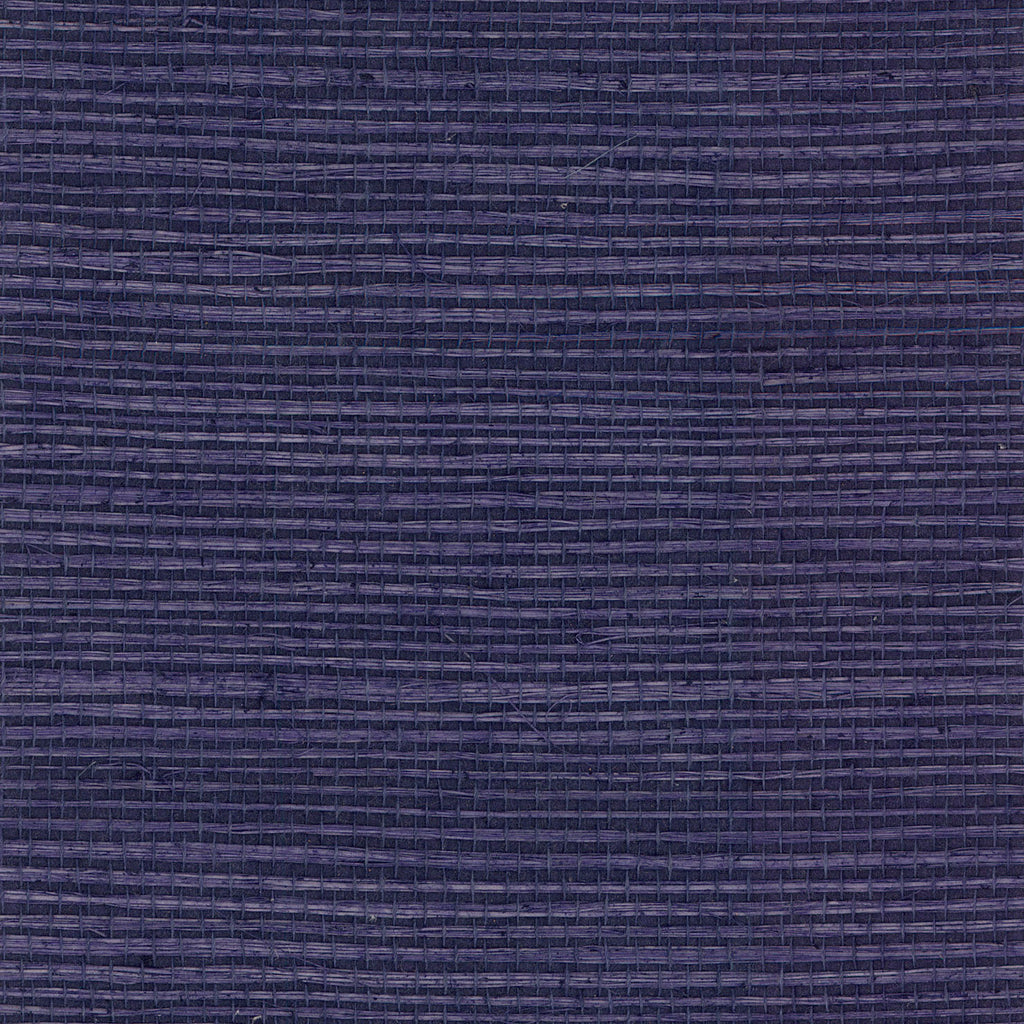 Sisal Grasscloth Wallpaper in Indigo from the Luxe Retreat Collection by Seabrook Wallcoverings