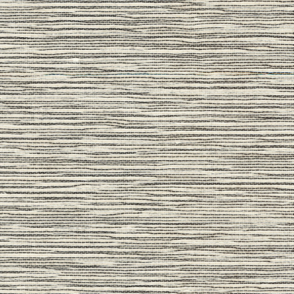 Sisal Grasscloth Wallpaper in Ivory and Jet Black from the Luxe Retreat Collection by Seabrook Wallcoverings