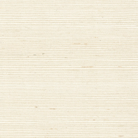Sample Sisal Grasscloth Wallpaper in Ivory from the Luxe Retreat Collection by Seabrook Wallcoverings