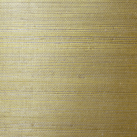Sample Sisal Grasscloth Wallpaper in Metallic Gold and Aloe from the Luxe Retreat Collection by Seabrook Wallcoverings