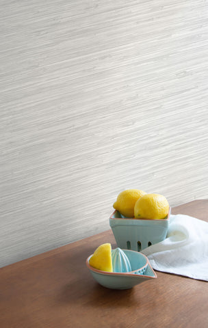 Sisal Hemp Wallpaper in Aspen from the More Textures Collection by Seabrook Wallcoverings