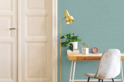 Sisal Hemp Wallpaper in Ginko from the More Textures Collection by Seabrook Wallcoverings