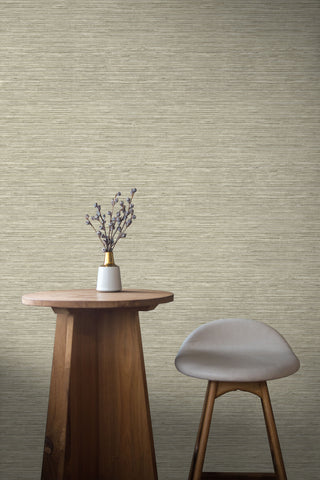 Sisal Hemp Wallpaper in Maize from the More Textures Collection by Seabrook Wallcoverings
