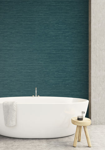 Sisal Hemp Wallpaper in Palmetto from the More Textures Collection by Seabrook Wallcoverings