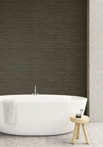 Sisal Hemp Wallpaper in Portobello from the More Textures Collection by Seabrook Wallcoverings