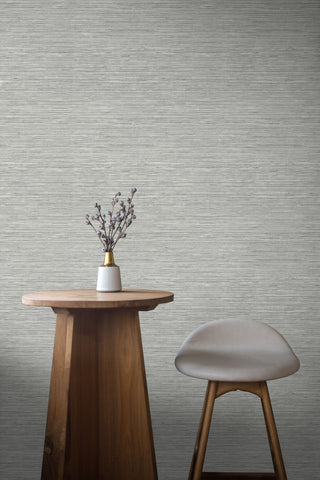Sisal Hemp Wallpaper in Salt Glaze from the More Textures Collection by Seabrook Wallcoverings