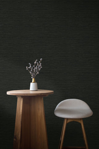 Sisal Hemp Wallpaper in Twilight from the More Textures Collection by Seabrook Wallcoverings