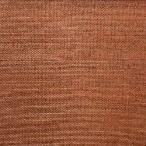 Sisal Wallpaper in Burnt Orange from the Winds of the Asian Pacific Collection by Burke Decor