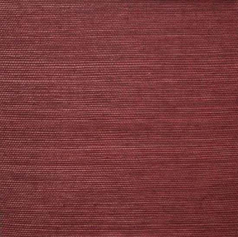 Sisal Wallpaper in Maroon from the Winds of the Asian Pacific Collection by Burke Decor