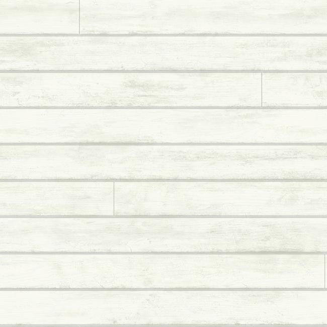 Sample Skinnylap Wallpaper in Ivory and Grey from the Magnolia Home Collection by Joanna Gaines