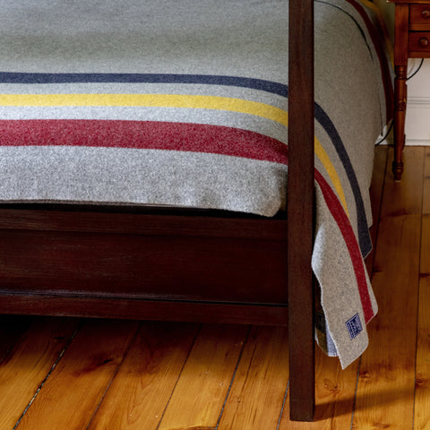 Revival Stripe Blanket in Grey