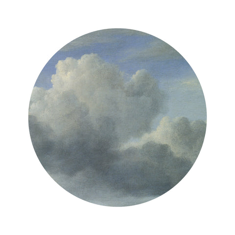 Small Wallpaper Circle in Golden Age Clouds 008 by KEK Amsterdam