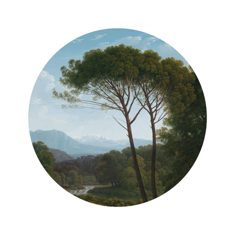 Small Wallpaper Circle in Golden Age Landscape 003 by KEK Amsterdam