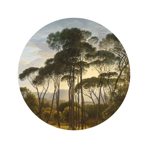 Small Wallpaper Circle in Golden Age Landscape 011 by KEK Amsterdam