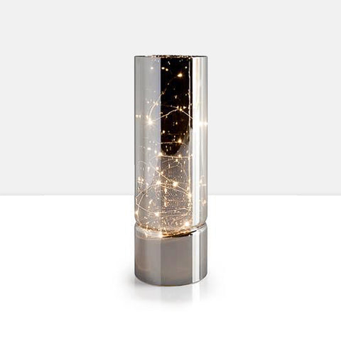"Smoke Mirror Hurricane 11.75h"" LED Decor Lamp"