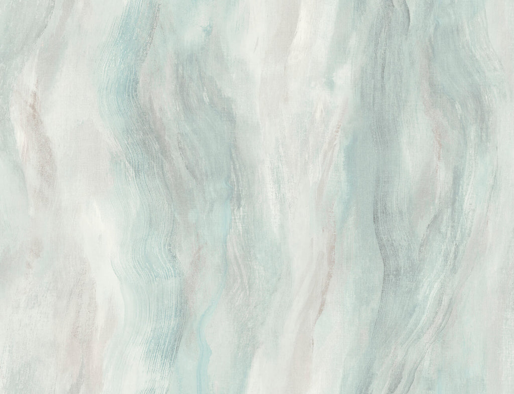 Sample Smoke Texture Embossed Vinyl Wallpaper in Polar Ice from the Living With Art Collection by Seabrook Wallcoverings