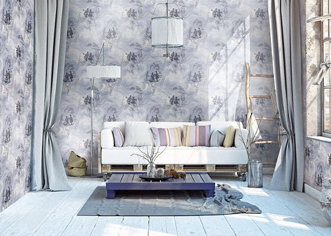 Smoke Date Wallpaper from the Sanctuary Collection by Mayflower Wallpaper