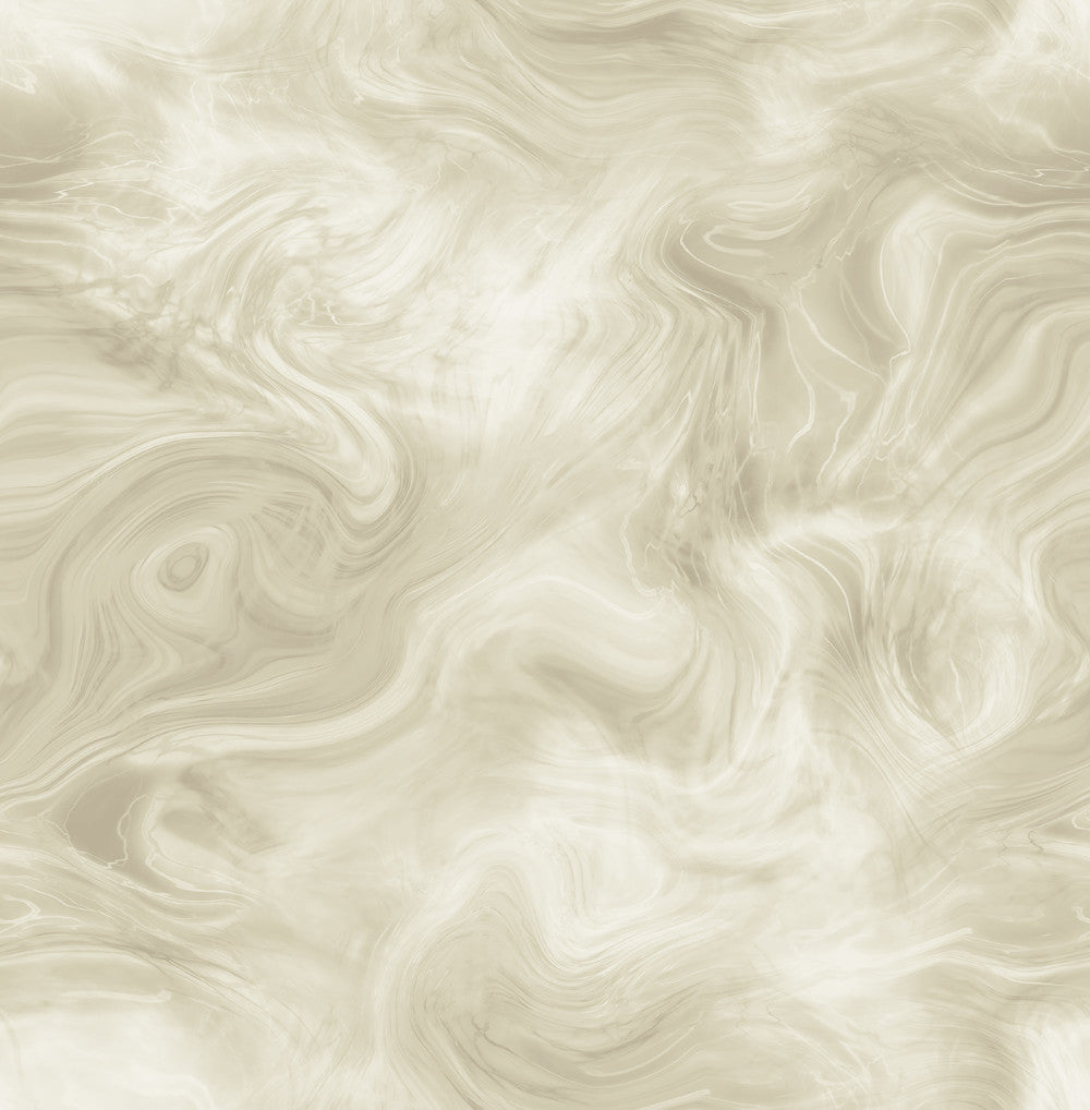 Sample Smoke Wallpaper in Cream and Bronze from the Solaris Collection by Mayflower Wallpaper