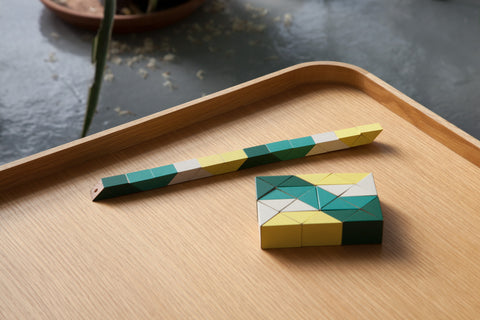 Snake Block® - Medium Yellow/Green design by Areaware