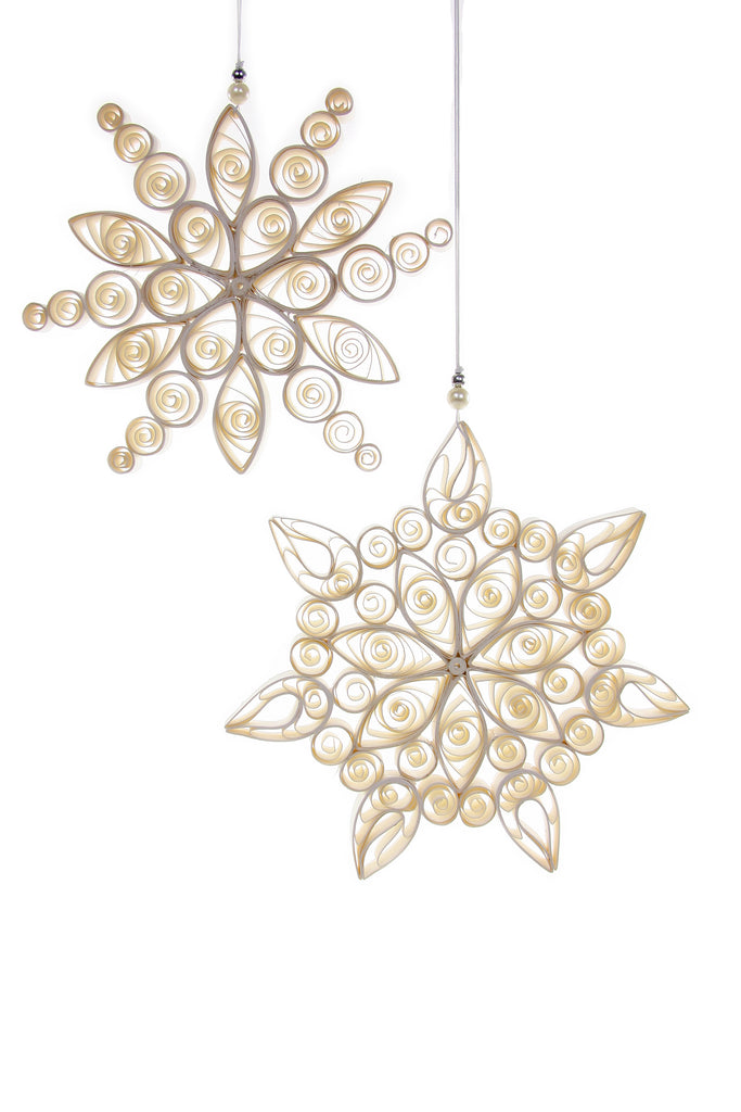 Snowflake Large (Set of 2) Holiday Ornament by Cody Foster & Co.