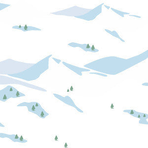 Snowscene Wallpaper in Avalanche design by Aimee Wilder