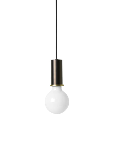 Socket Pendant in Black Brass by Ferm Living