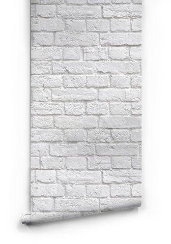Soft White Bricks Boutique Faux Wallpaper design by Milton & King