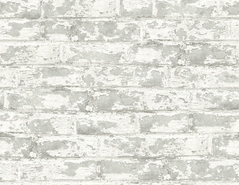 Soho Brick Peel-and-Stick Wallpaper in Calcutta from the Luxe Haven Collection by Lillian August