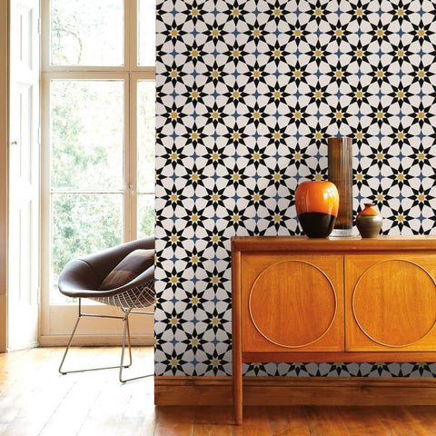 Soleil Self-Adhesive Wallpaper in Moroccan Spice design by Tempaper