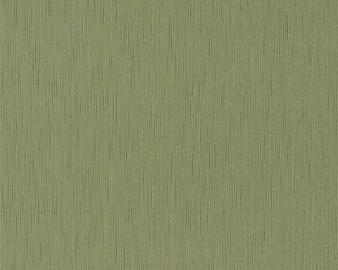 Solid Faux Fabric Wallpaper in Green design by BD Wall
