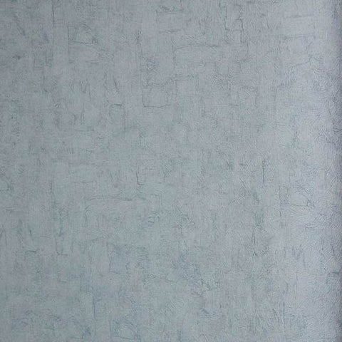 Solid Textured Wallpaper in Soft Mid Blue from the Van Gogh Collection by Burke Decor