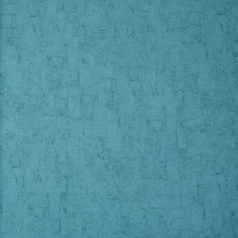 Solid textured wallpaper in turquoise blue from the van gogh collection by burke decor