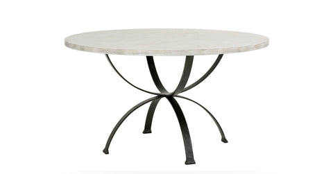 Sophia Round Dining Table in Beachwood design by Redford House