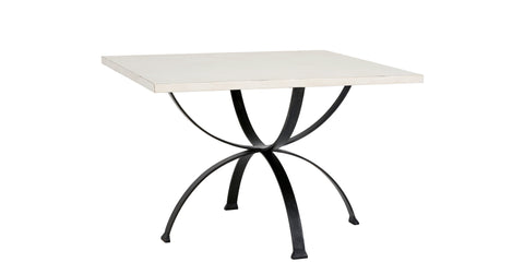 Sophia Square Dining Table in Raw Cotton design by Redford House