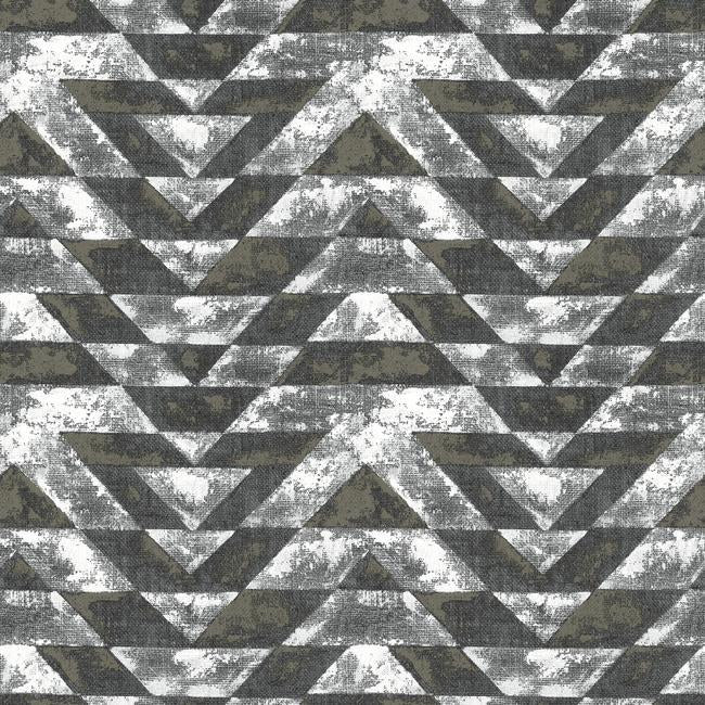 Sample Southwest Geometric Peel & Stick Wallpaper in Black by RoomMates for York Wallcoverings