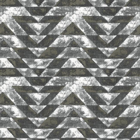 Southwest Geometric Peel & Stick Wallpaper in Black by RoomMates for York Wallcoverings