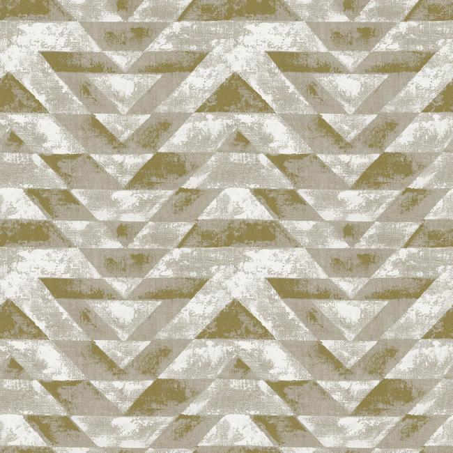 Sample Southwest Geometric Peel & Stick Wallpaper in Gold by RoomMates for York Wallcoverings