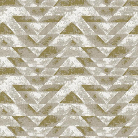Southwest Geometric Peel & Stick Wallpaper in Gold by RoomMates for York Wallcoverings