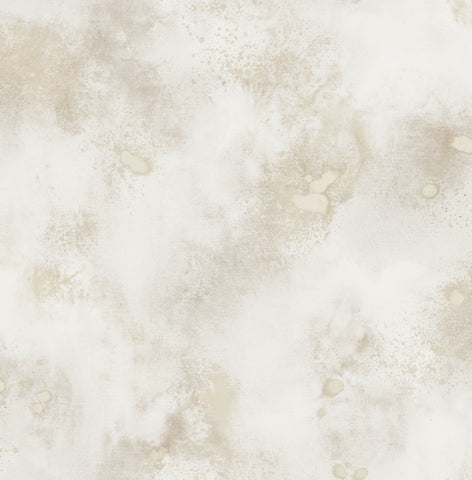 Space Oddity Wallpaper in Cream and Gold from the Solaris Collection by Mayflower Wallpaper