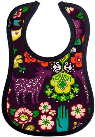 Spanish Garden Baby Bib by Mini Maniacs