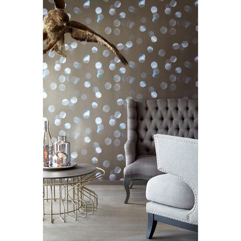 Sparkles Black Iridescent Floating Octagon Wall Mural by Eijffinger for Brewster Home Fashions
