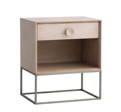 Spencer 1 Drawer Nightstand in Cashew design by Redford House