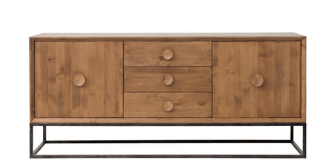 Spencer 3 Drawer Entertainment Console in Almond design by Redford House